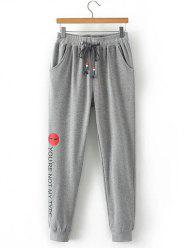 Plus Size Drawstring Fitness Jogger Sweatpants