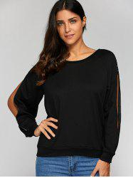 Zipper Up Sleeve Sweatshirt -