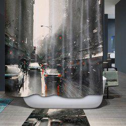 Bath Decor City Printed Waterproof Polyester Shower Curtain