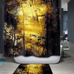 Bathroom Waterproof Mouldproof Sunshine Landscape Shower Curtain -