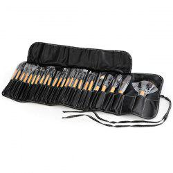 24 Pcs Fiber Makeup Brushes Set with Brush Bag