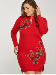 Long Sleeve Plus Size Mini Sweater Dress