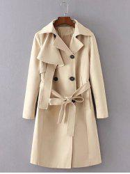Belted Button Up Trench Coat