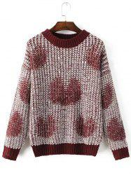Pullover Love Heart Pattern Loose Sweater
