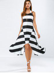 Casual Striped Midi Tank Summer Dress -