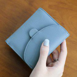 Tri Fold Flap Mini Wallet - BLUE