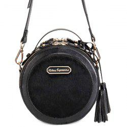 Round Faux Fur Tassels Crossbody Bag