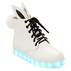 Pompon Lights Up Ankle Boots -