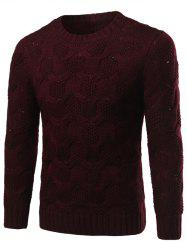 Crew Neck Geometric Kink Design Long Sleeve Sweater -
