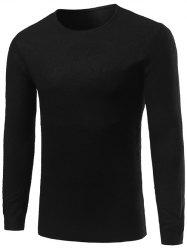 Crew Neck Simple Long Sleeve Sweater -