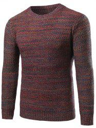 Crew Neck Knit Blends Sweater