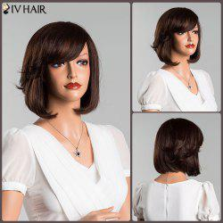 Short Oblique Bang Bob Straight Human Hair Wig -