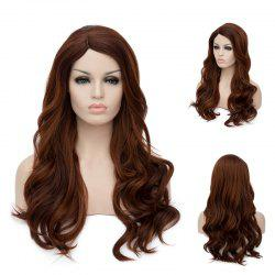 Long Side Parting Wavy Highlight Synthetic Wig