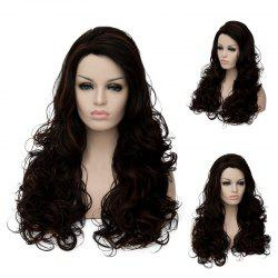 Long Shaggy Side Parting Wavy Highlight Synthetic Wig