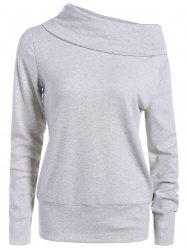 Haut Long Neck Sleeve Sweatshirt -