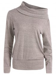 High Neck Long Sleeve Sweatshirt -