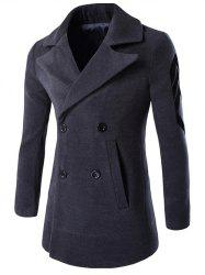 Lapel Double Breasted Patch Design Sleeve Coat -