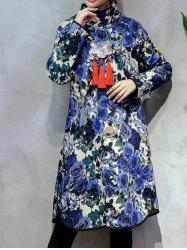 Thick Chinese Style Rose Shift Dress
