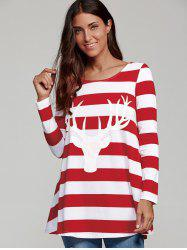 Elk Head and Striped T-Shirt