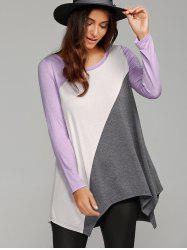 Patchwork Asymmetrical T-Shirt -