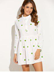 Long Sleeve Sunflower Mini Dress