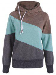 Casual Color Block Long Sleeves Hoodie For Women -