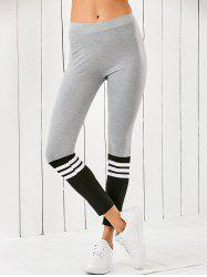Striped Color Block Leggings -