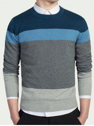 Striped Long Sleeves Crew Neck Knitwear