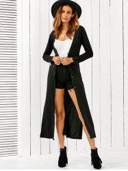 Fitting Buttoned Long Cardigan -