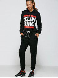 Casual Run Dmc Pattern Hoodie and Pants Twinset