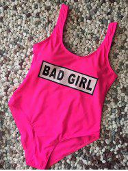 Straps Bad Girl Swimwear - ROSE RED