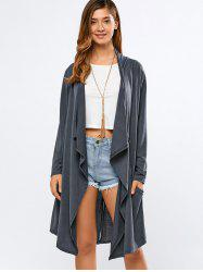 Long Sleeve Back Slit Cardigan -