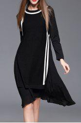 Knee Length Long Sleeve Jumper Dress