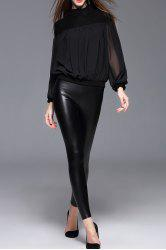 Faux Leather Skinny Pants -
