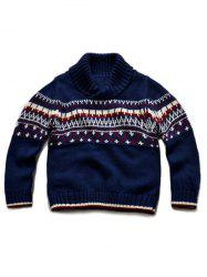 Turtle Neck Pullover Knitted Sweater -