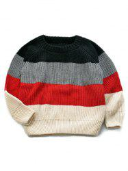 Stripe Knitted Pullover Sweater -