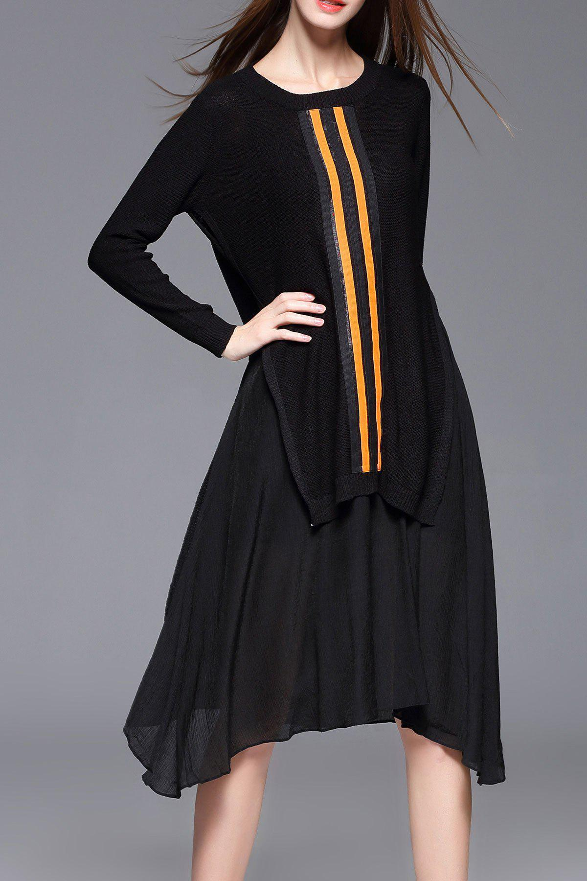 Sale High Low Sweater Dress With Strap Dress