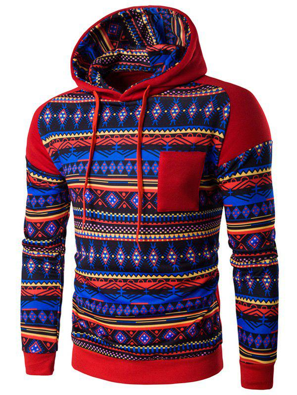 New Ethnic Style Printed Hoodie