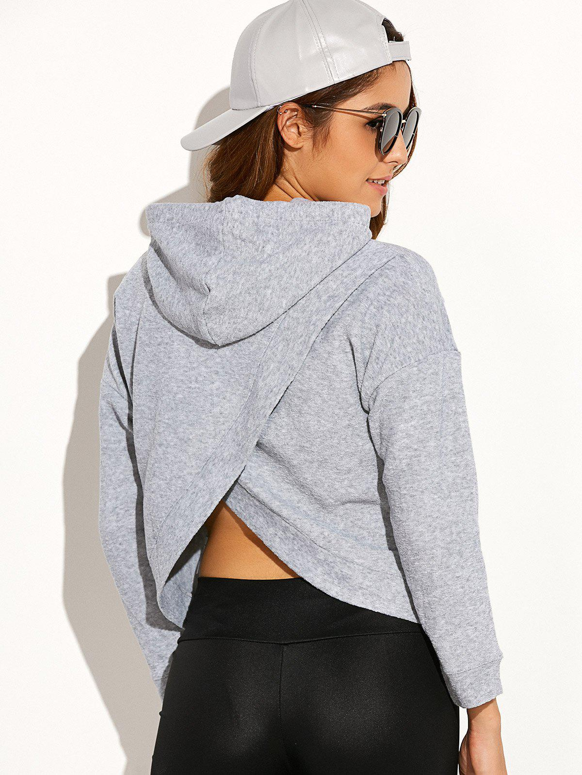 back cross Hoodie with on