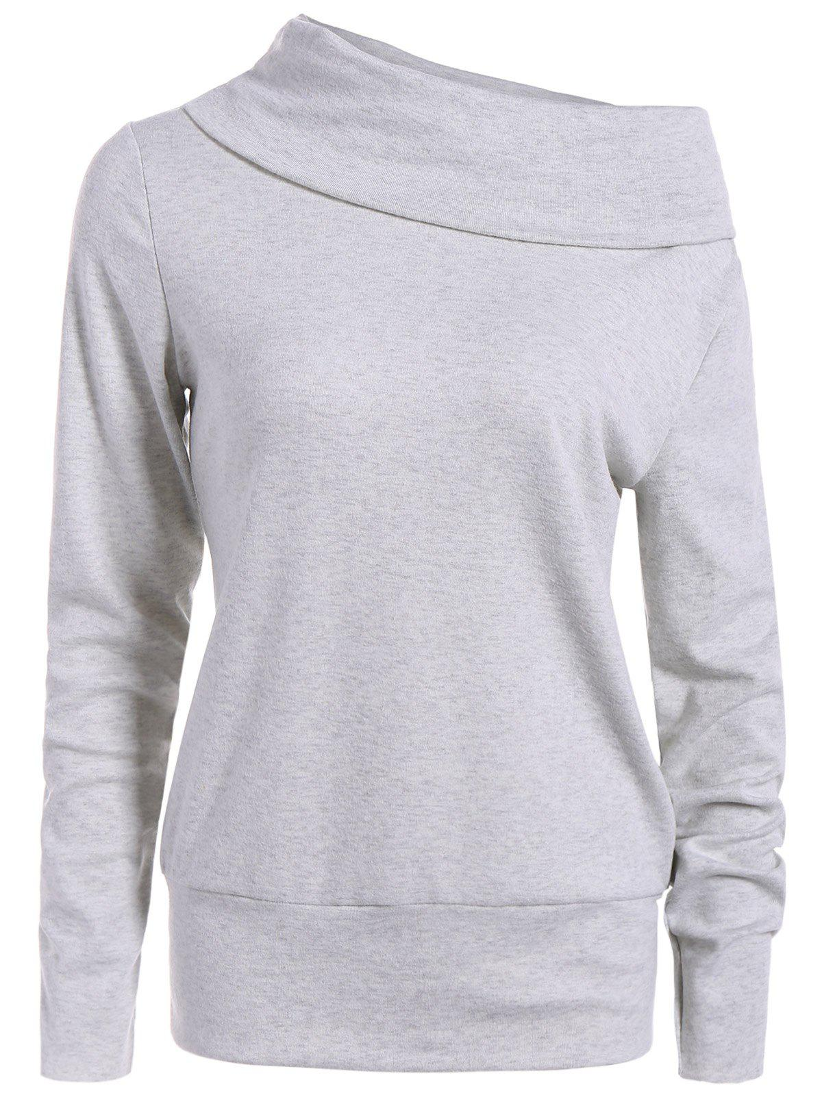 New High Neck Long Sleeve Sweatshirt