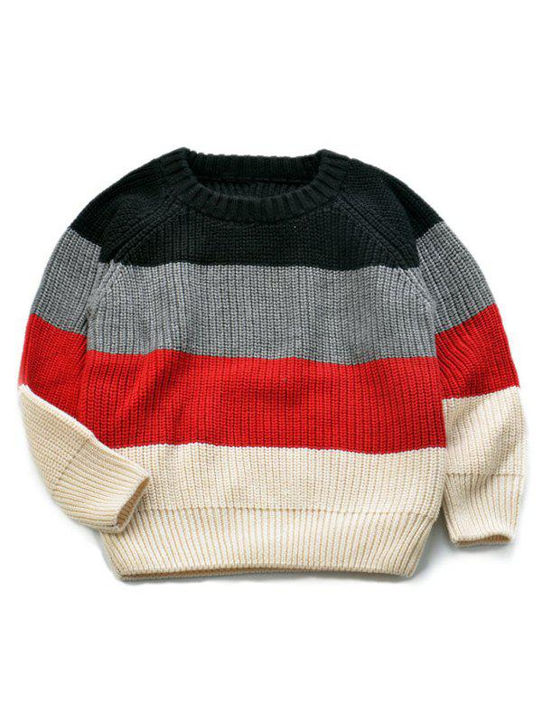 Chic Stripe Knitted Pullover Sweater