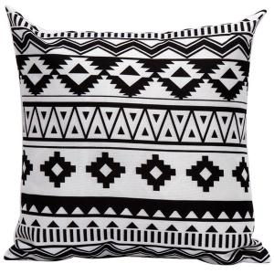 Soft Decorative Geometrics Pattern Sofa Bed Pillow Case