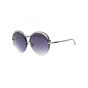 Cool Three Layered Frame Round Sunglasses