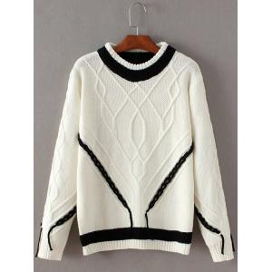 Knit Cable Color Block Sweater