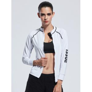 Zipper Bodycon Yoga Jacket