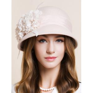 Flourishing Flower Feather 1920s Cloche Hat