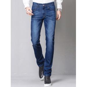 Slim-Fit Zip-Fly Straight Leg Jagger Jeans