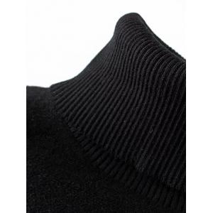Turtleneck Batwing Sweater - BLACK ONE SIZE