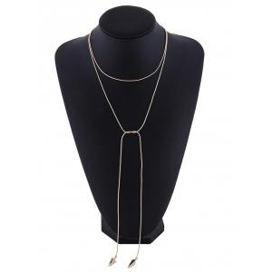 Vintage Layered Alloy Choker Necklace -