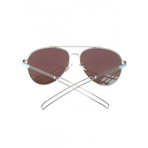 Cool Crossbar Hollow Out Leg Pilot Mirror Sunglasses -